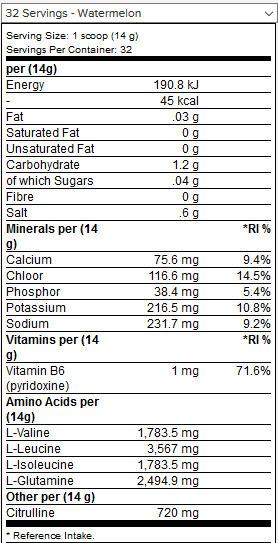 Bcaa Amino-Hydrate 1,4 kg