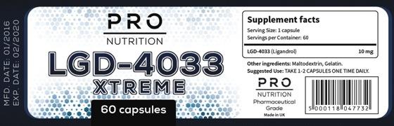 Lgd 4033 Xtreme 60 caps