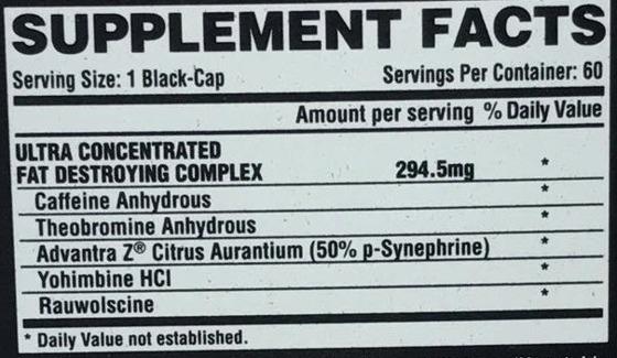 Lipo6 Black Ultra Concentrate 60 caps