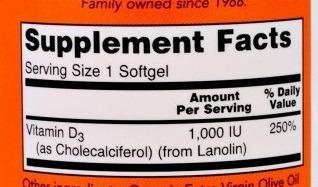 Vitamin D-3 1000UI 180 caps