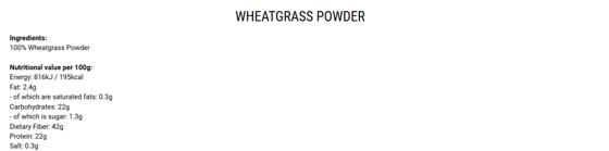 Wheatgrass 200g