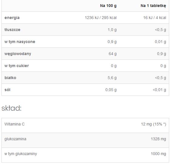 Glucosamine + Vitamin C 90 caps