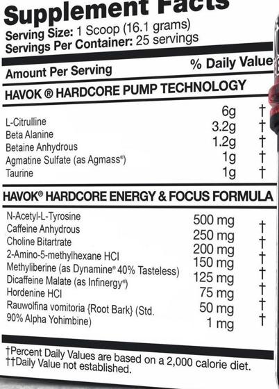 Havok Hardcore 400g