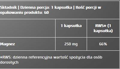 Magnesium + Chelate 60 caps
