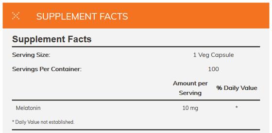 Melatonin 10 mg 100 caps