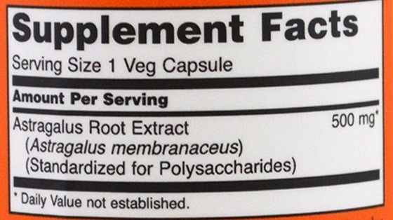 NowFoods Astragalus Extract 500mg 90 caps