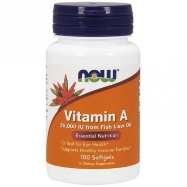 NowFoods Vitamin A 25000 IU 100 caps