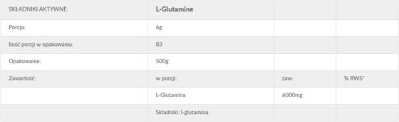 QNT L-Glutamine 6000 500g