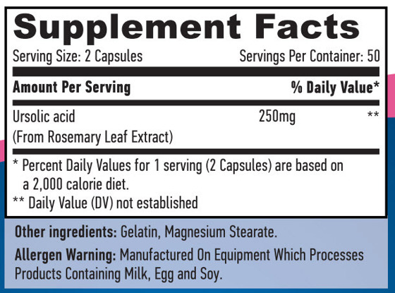 Ursolic Acid 250 mg 100 caps