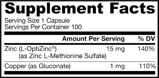 Zinc Balance 100 caps